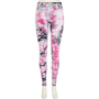 Pink tie dye high waisted leggings