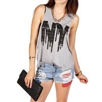 Heather Grey NY Tank Top