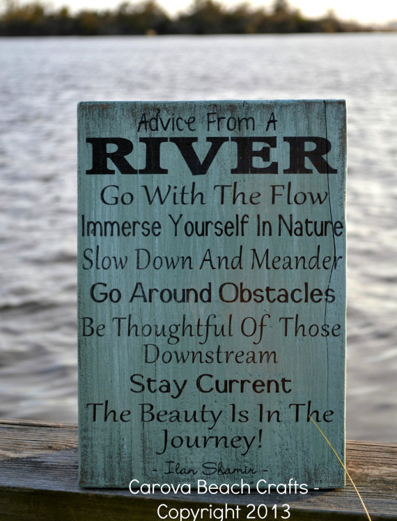 River Home Decor Advice River Wood Sign from Carova Beach
