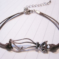 Bracelet-antique silver cat bracelet from tostyle