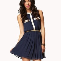 Essential Pleated Chiffon Dress | FOREVER 21 - 2049243010