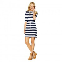 C. Wonder | Striped Knit Drawstring Dress