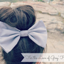 Big Grey Hair Bow