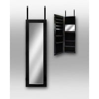 Dalton Home Collection Over The Door Jewelry Armoire, Black