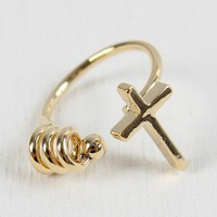 Spiraling Faith Knuckle Ring