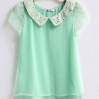 Double Layers Chiffon Shirt