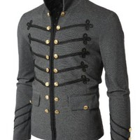 Amazon.com: Doublju Mens Button Pointed Zipper Jacket: Clothing