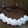White Rose Flower Headband, Flower Crown, Flower Halo, Festival Wear, EDC, Coachella, Ezoo,Ultra Music Festival, Rave