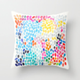 Rain 9 Throw Pillow by Garima Dhawan