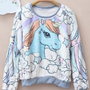 Magical fantasy unicorn pony pastel OVERSIZED fluffy sweater jumper JAPAN kawaii