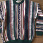 "COTTON TRADERS Large L CrAzY ""COSBY"" Sweater vINTAGE BUT PERFECT CONDITION GREEN"
