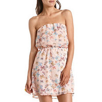 Butterfly Print Chiffon Tube Dress: Charlotte Russe