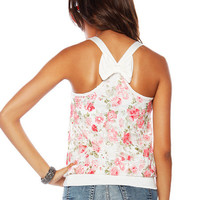 Papaya Clothing Online :: BOW BACK FLORAL LACE TOP