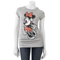 Jerry Leigh Minnie Mouse Bow Tee - Juniors