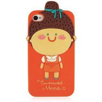 Cute Little Girl Soft Case for iPhone 4/4S