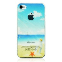 3D Water-drop Beach Phone Case For iPhone 4/4S