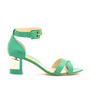 mytheresa.com -  Rupert Sanderson - VESTAL LEATHER SANDALS WITH BLOCK HEEL - Luxury Fashion for Women / Designer clothing, shoes, bags