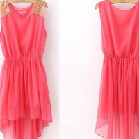 Fashion Sleeveless Chiffon Dress