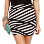 BlackIvory Criss Cross Lines Skirt