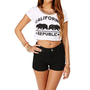 White California Republic Crop Top