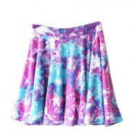 Vintage Skater Skirt in Ditsy Smudge Print