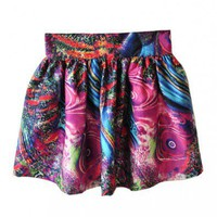 Mini Skater Skirt in Galaxy Print