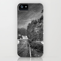 The white line of the road iPhone & iPod Case by Guido Montañés