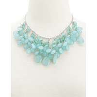 Mint Teardrop Statement Necklace: Charlotte Russe