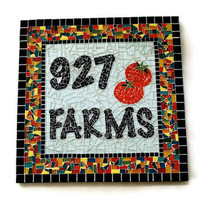 Custom Garden Mosaic, Address Sign, Mosaic Art