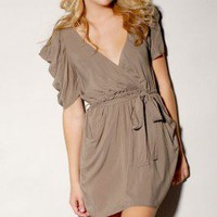 Poof Sleeve Wrap Dress - ShopAKIRA.com