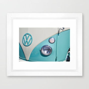 Classic VW Camper Framed Art Print by Alice Gosling