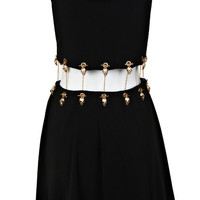 ROMWE | Golden Chained Detachable Black Dress, The Latest Street Fashion