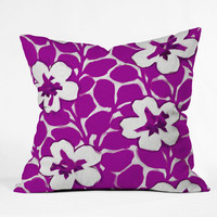 DENY Designs Home Accessories | Jacqueline Maldonado Painted Floral Magenta Throw Pillow