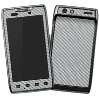 Textured Carbon Fiber Silver Grey Skin  for the Droid RAZR by skinzy.com