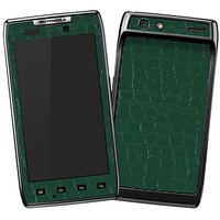 Textured Fir Tree Green Crocodile Skin  for the Droid RAZR by skinzy.com