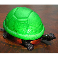 Warehouse of Tiffany Green Turtle Accent Lamps (Set of 2) | Overstock.com