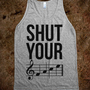 Shut Your (FACE) - expressions - Skreened T-shirts, Organic Shirts, Hoodies, Kids Tees, Baby One-Pieces and Tote Bags