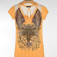 Angels & Diamonds Lace Yoke T-Shirt - Women's Shirts/Tops | Buckle