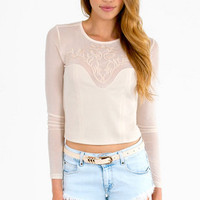 Mesh Memories Crop Top $29