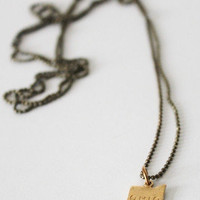Tigertree - Tiny Brass Ohio Necklace