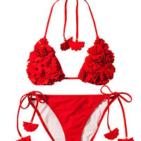 3D Poppy Bikini Set, River Island