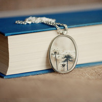 photography pendant photo jewelry flower photography pendant flower necklace Queen Annes Lace