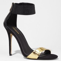 ZIP BACK HEELED SANDAL