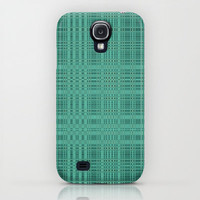 Crossthreaded - Teal iPhone & iPod Case by Lyle Hatch