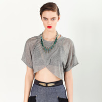 Crossover T - Super Sheer Heather Grey Jersey - XS, S, M, L