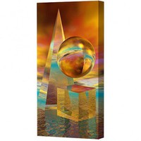 Menaul Fine Art Three Forms Limited Edition Canvas - Scott J. Menaul - GEO-016 - All Wall Art - Wall Art & Coverings - Decor