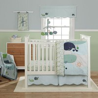 Banana Fish Little Whales 3-pc. Crib Bedding Set by MiGi