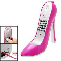 Amaranth Super High-Heel Stiletto Shoe Corded Telephone, Pink:Amazon:Electronics