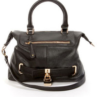 Best of Lock Black Handbag