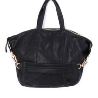 Zip Uptown Black Handbag